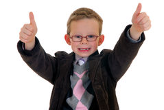 Successful child okay gesture Stock Photography