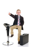 Successful child okay gesture Royalty Free Stock Image