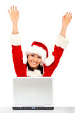 Successful christmas girl Stock Photo