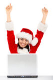 Successful christmas girl Royalty Free Stock Photos