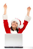 Successful christmas girl Royalty Free Stock Images