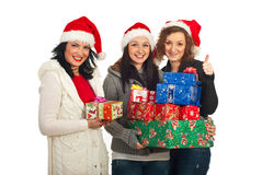 Successful Christmas shopping Stock Images