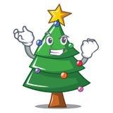 Successful Christmas tree character cartoon. Vector illustration Stock Photography