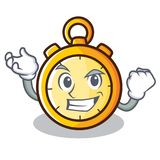 Successful chronometer character cartoon style Stock Photos