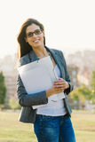 Successful city business woman portrait Royalty Free Stock Photos