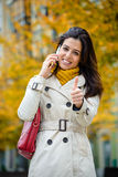 Successful city woman in autumn Stock Images