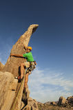 Successful climber at the top. Stock Photo