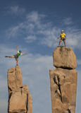 Successful climbing team. Royalty Free Stock Photography