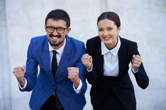 Successful co-workers Royalty Free Stock Photo