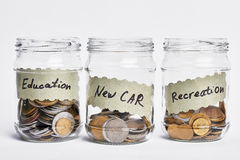 Successful coin jar. Royalty Free Stock Photography