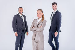 Successful colleagues. Three confident and successful businessma Stock Image