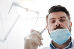 Successful committed dentist at work Royalty Free Stock Photos