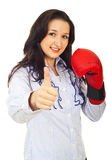 Successful competitor business woman Stock Photo
