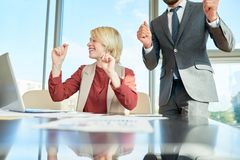 Successful Completion of Negotiations stock photo