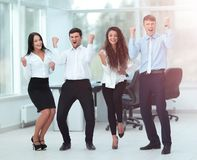 Successful business people looking happy and confident. Successful and confident business team celebrating win Stock Photography