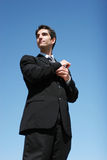 Successful, confident businessman Stock Images