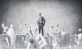 Successful confident businessman in suit. Stock Photo