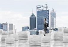 Successful confident businessman in suit. Stock Image