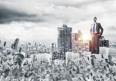 Successful confident businessman in suit. Royalty Free Stock Photos