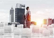 Successful confident businessman in suit. Stock Photography