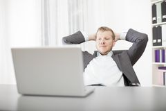 Successful confident young businessman Stock Photos