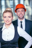 Successful construction team is working on a new Royalty Free Stock Image