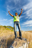 Successful construction worker Stock Images