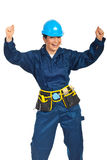 Successful constructor worker woman Stock Images