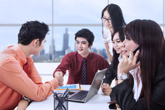 Successful contract in office Stock Photo