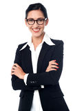 Successful corporate woman posing Stock Images