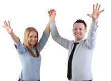 Successful couple Royalty Free Stock Images