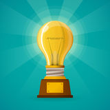 Successful creative idea concept in flat style Royalty Free Stock Photos