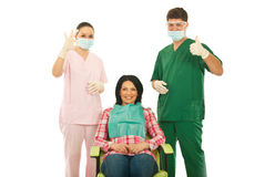 Successful dental treatment Royalty Free Stock Photo