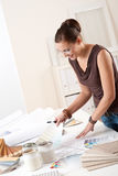 Successful designer woman at office  Stock Image
