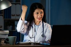 Successful doctor achieve the exam Stock Photography