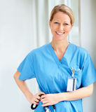 Successful doctor in blue uniform Stock Photography