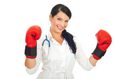 Successful doctor woman Stock Photography