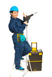 Successful driller woman Stock Photo