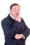 Successful elder businessman Stock Photography