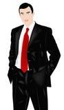 The successful elegant businessman royalty free illustration