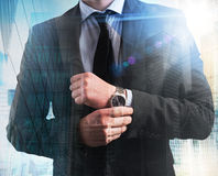 Successful and elegant businessman royalty free stock images