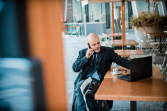 Successful elegant fashionable businessman on the phone Royalty Free Stock Images