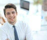 Successful employee at a Desk Stock Photos