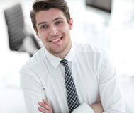 Successful employee at a Desk Stock Photography