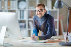 Successful employee Royalty Free Stock Image