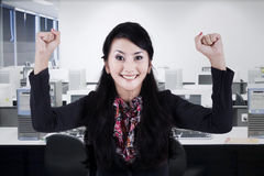 Successful employee in office Stock Photography