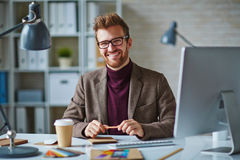 Successful employee Stock Photo