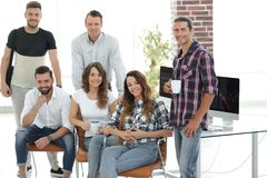 Successful employees design Agency stock images
