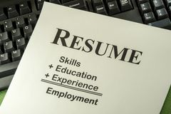 Free Successful Employment Concept With Desired Resume Formula Royalty Free Stock Photo - 35846115