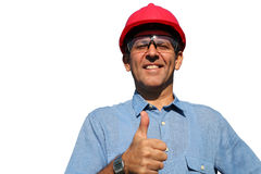 Successful Engineer Showing Ok Sign Stock Image